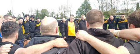 Coach - Ray Monaghan congratulates squad
